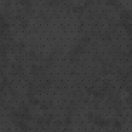 tileable: Black abstract background with subtle delicate grunge texture, polka dot seamless pattern, monochrome embossed surface in shades of dark gray color Illustration