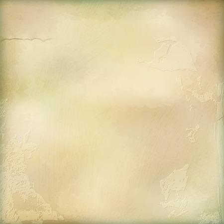 mur platre: Paroi vecteur �g�e de pl�tre fond abstrait avec de subtiles d�licate texture grunge de surface dans les tons de couleurs pastel pour la conception de papier peint Illustration