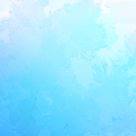 abstrait d'aquarelle avec subtil grunge texture ciel bleu nuageux