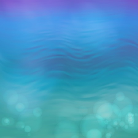 Blurry vector water ripple blue background with abstract smooth lines Çizim