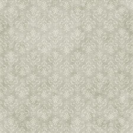 Vintage seamless pattern background on subtle grunge wallpaper texture