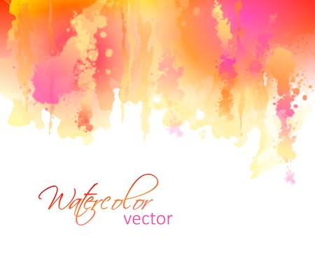 Vector watercolor streaks  Hand drawing abstract splash on white background Vector