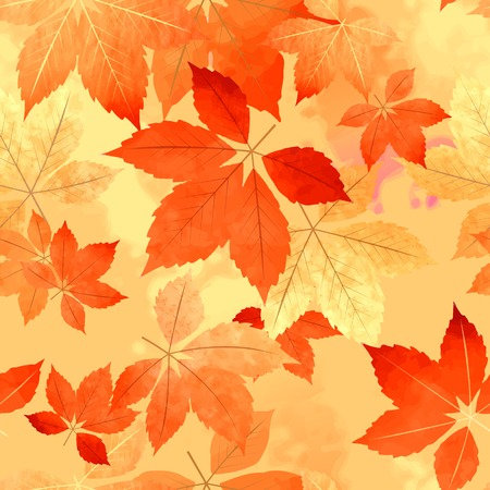 tileable background: Seamless vector autumn leaf fall pattern for wallpaper background design