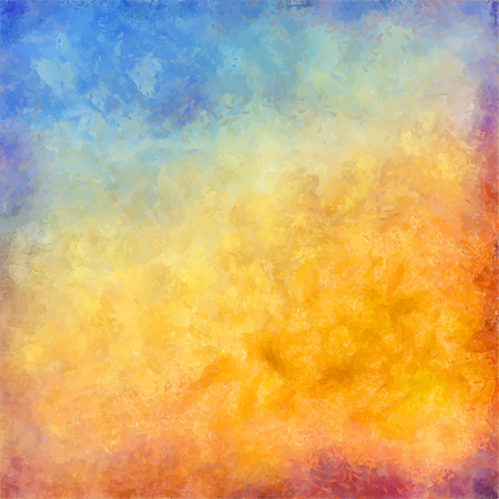 Abstract autumn vector digital oil painting background