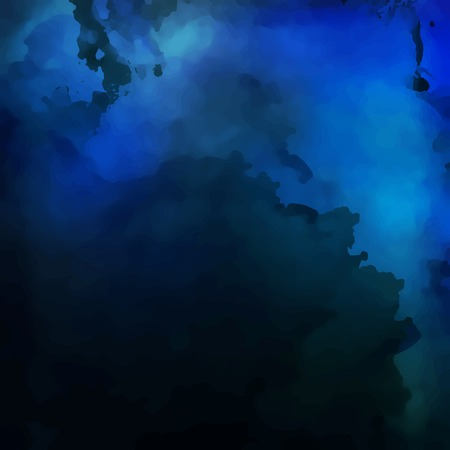 Abstract dark blue vector digital watercolor painting background Vector
