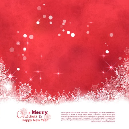 Abstract Vector Christmas Textured Background. Xmas winter art design with snowflake border