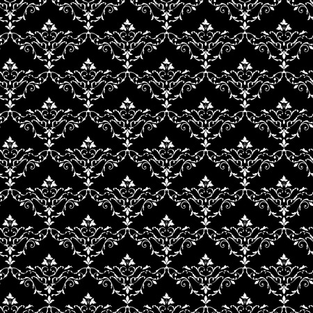 Vintage vector seamless Baroque wallpaper pattern in retro style