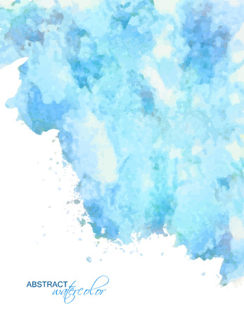 Vector abstract watercolor background with subtle grunge texture as cloudy blue sky