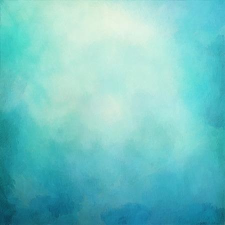 青い抽象芸術的なカラフルなヴィンテージ油絵の背景