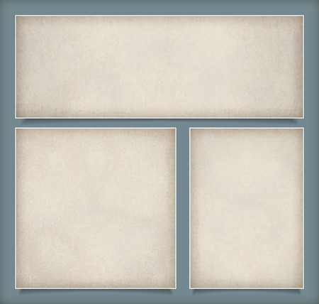 Abstract set vector background with subtle grunge old paper texture