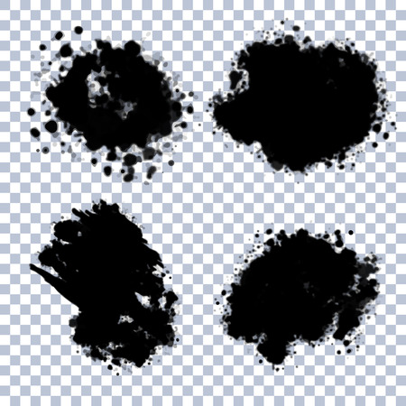 edges: Set of vector ink blots with transparent edges