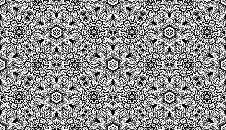 Vintage Vector Seamless Floral Zentangle Wallpaper Pattern Royalty