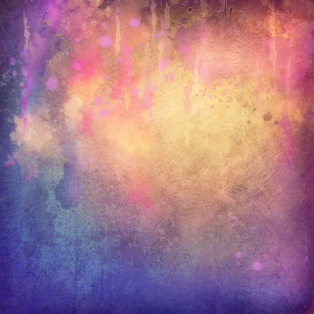 Abstract painting background with canvas grunge texture, watercolor streaks