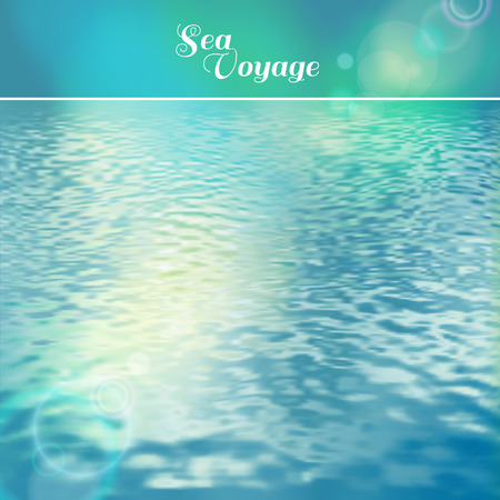 Sea vector background calm and clear. Marine panoramic landscape