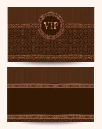 vip beautiful: Vector exclusive and stylish luxury VIP business card