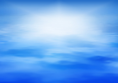 panoramic landscape: Sea vector background calm and clear. Marine panoramic landscape