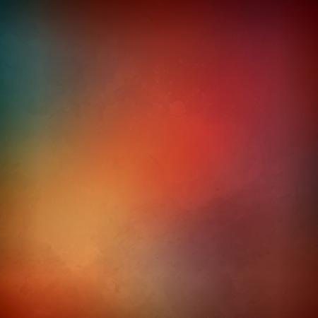 グランジ絵画のテクスチャと装飾的なベクトル水彩背景