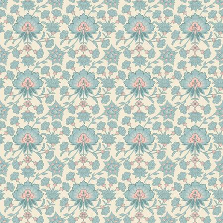 adorn: Vintage vector seamless floral damask wallpaper pattern