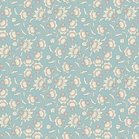 Vector de la vendimia incons�til del damasco floral del papel pintado