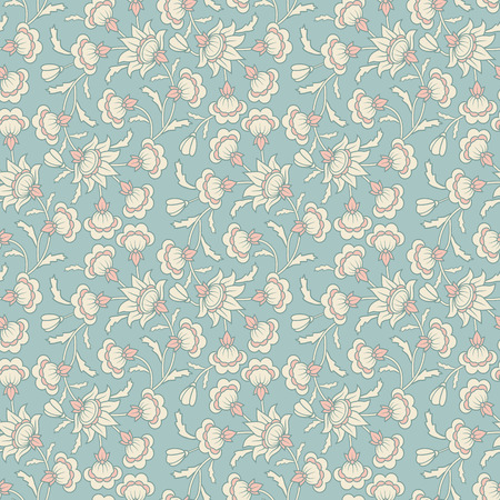 pattern vintage: Vintage vector seamless floral damask wallpaper pattern