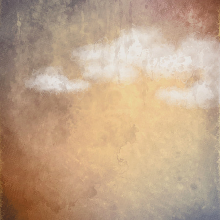artistic background: Abstract oil painting artistic background with clouds Stock Photo
