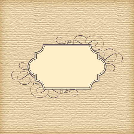 text box: Vector abstract textured paper background and vintage frame Illustration