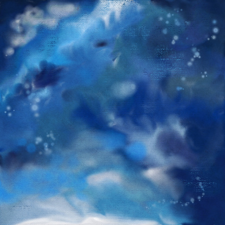 pictorial art: Dramatic night sky watercolor painting abstract background