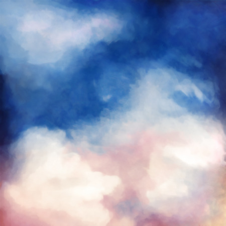 sky  dramatic: Dramatic sky digital watercolor painting abstract background
