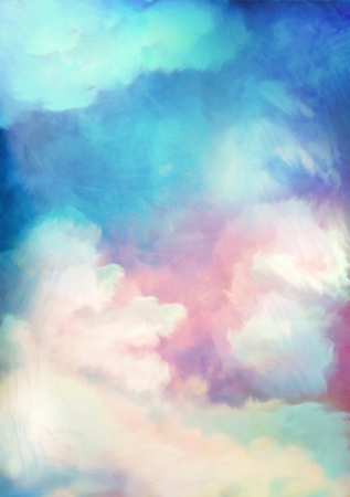 Dramatic sky digital watercolor painting abstract background