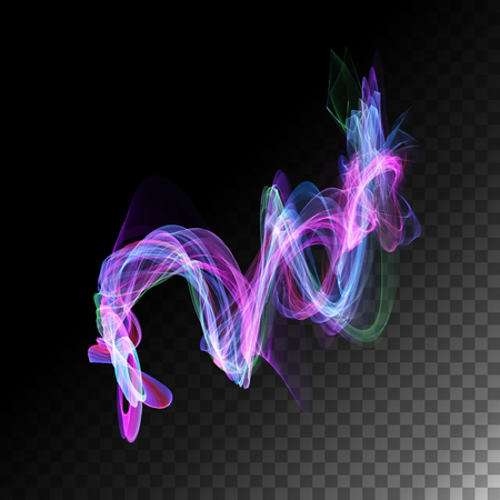 twisty: Magic abstract neon light transparent curved lines. Vector illustration Illustration