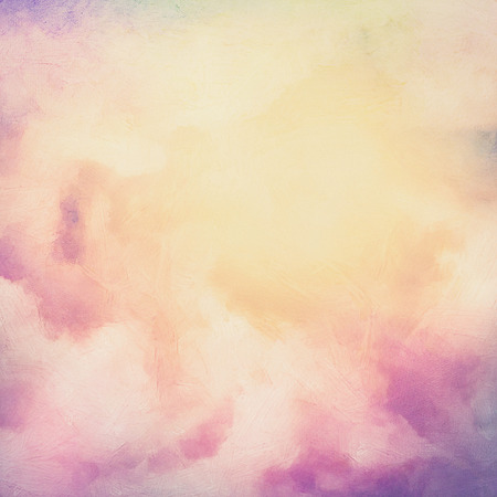 retro sunrise: Sunrise sky digital watercolor painting abstract background