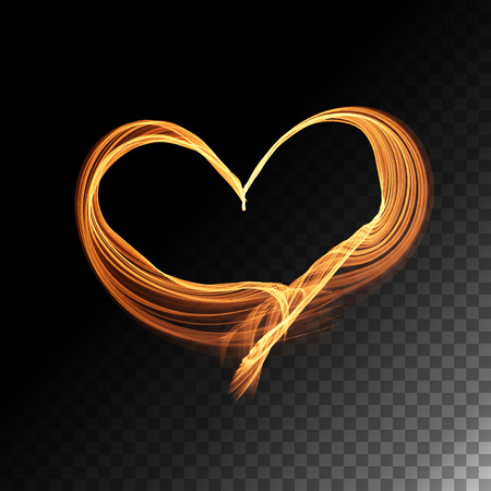 heart abstract: Abstract neon transparent glowing heart. Vector illustration