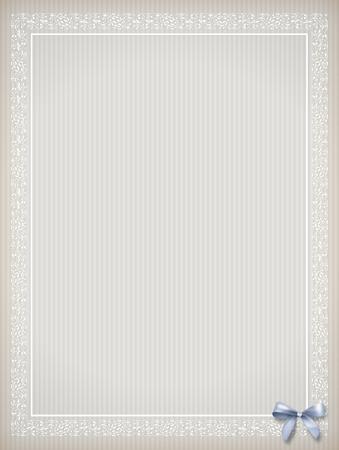 ornate background: Shabby chic vintage background. Classic ornate frame, border, bow