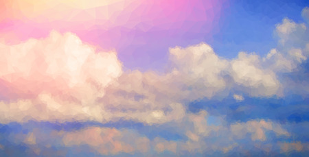 sunrise sky: Sunrise sky abstract polygonal background. Triangular low poly style Illustration