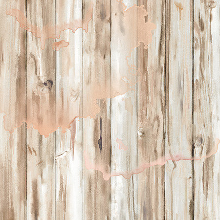 watercolor texture: Watercolor Wooden Background. Hand painted abstract texture Stock Photo