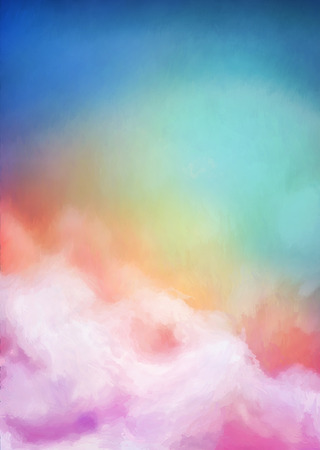 sunrise sky: Sunrise sky digital watercolor painting abstract background