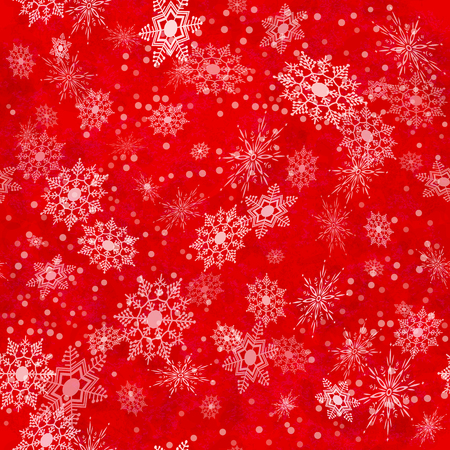 Wrapping Christmas vintage paper background with snowflake seamless pattern, subtle grunge texture