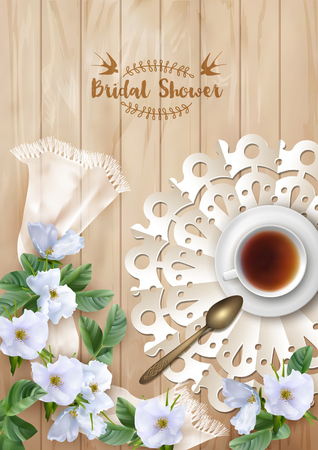 cup of tea: Bridal Shower Invitation Template