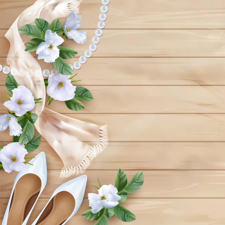 Sfondo floreale di nozze