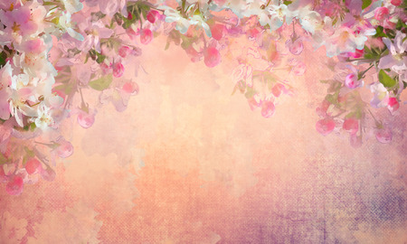 outdoor wedding: Spring Cherry Blossom Painting