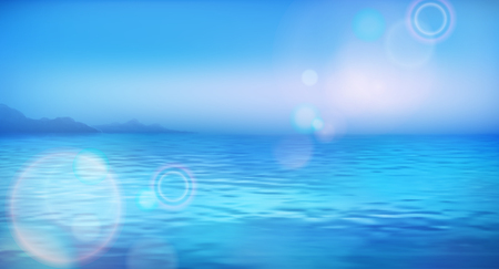 Sea vector background calm and clear. Marine landscape