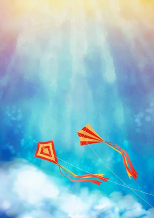 Blue Sky with Kite