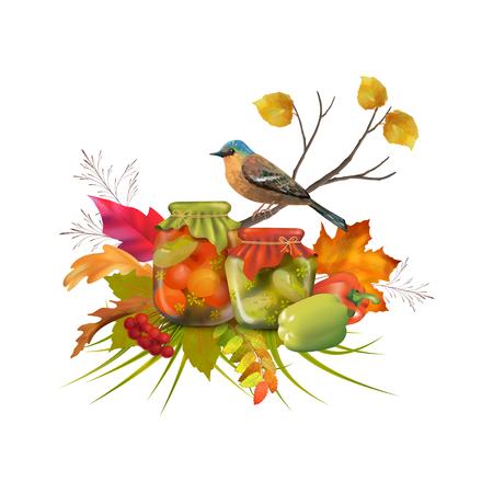 Composition d'automne de vecteur