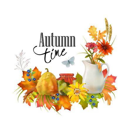 Vector Autumn Card Illustration