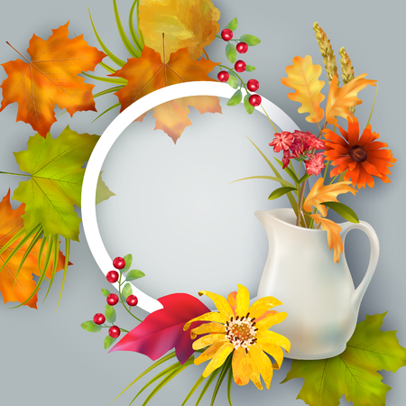 Vector Autumn Card illustration. Illustration
