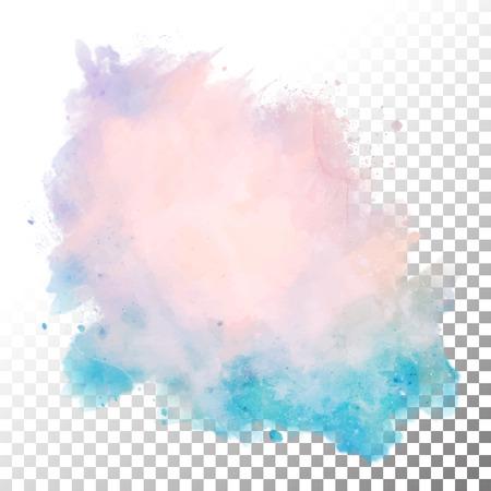 ベクトル水彩には、青いしみが描かれています。手描き抽象スプラッシュの透明なエッジを持つ  イラスト・ベクター素材