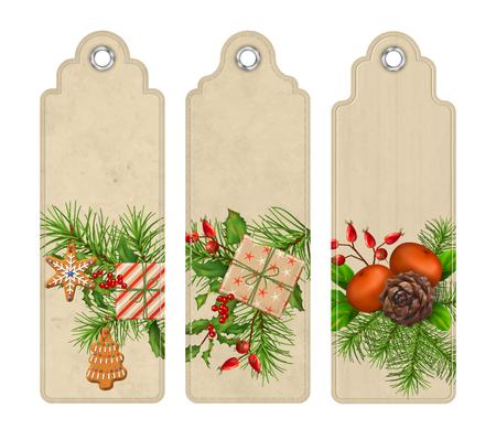 Vector Christmas Bookmark Illustration