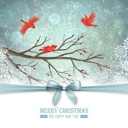 Winter Landscape Design Illustration