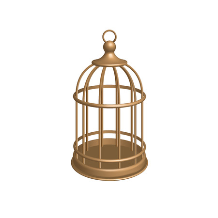 Vector Golden Cage illustration. Illustration