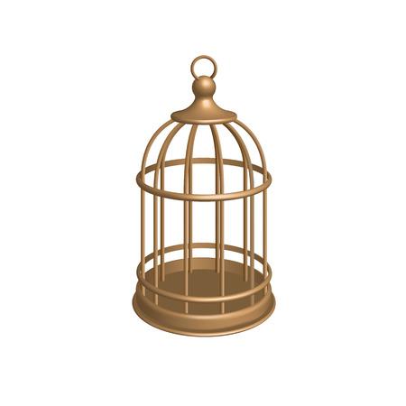 Vector Golden Cage illustration. Illusztráció